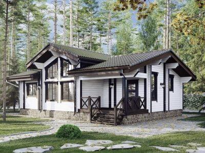 дом из проф бруса